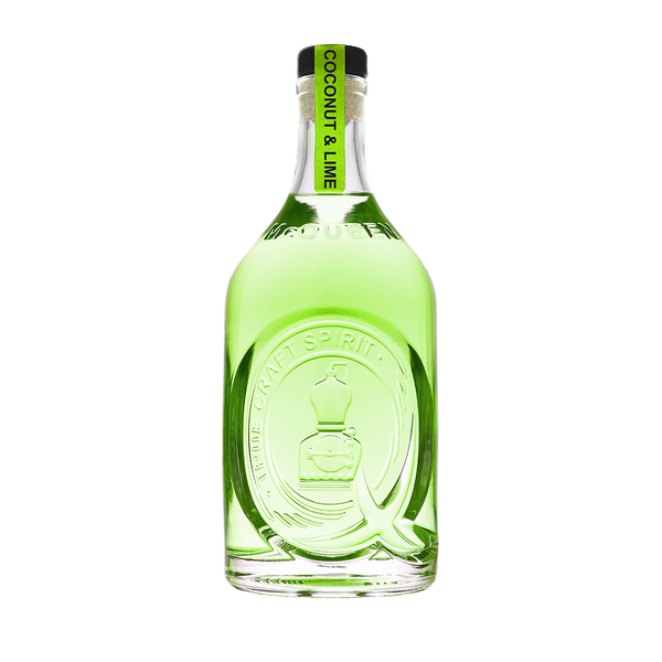 A bottle of McQueen Coconut and Lime Gin