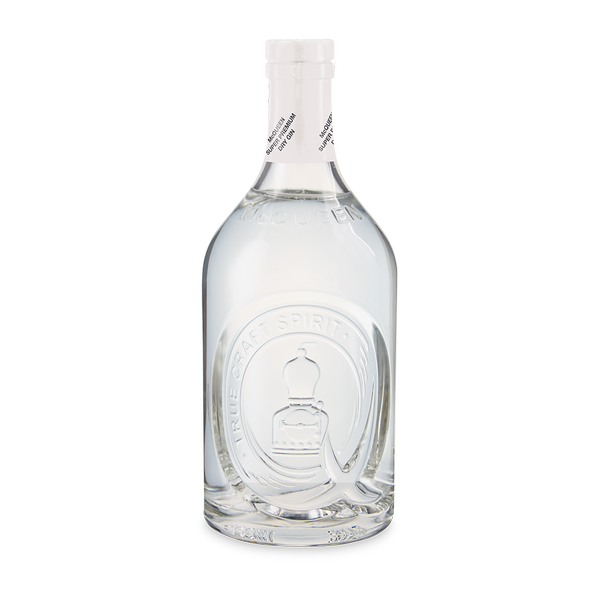 A bottle of McQueen Gin Super Premium Dry
