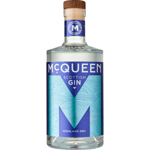 Front view of a bottle of McQueen Highland Dry Scottish Gin