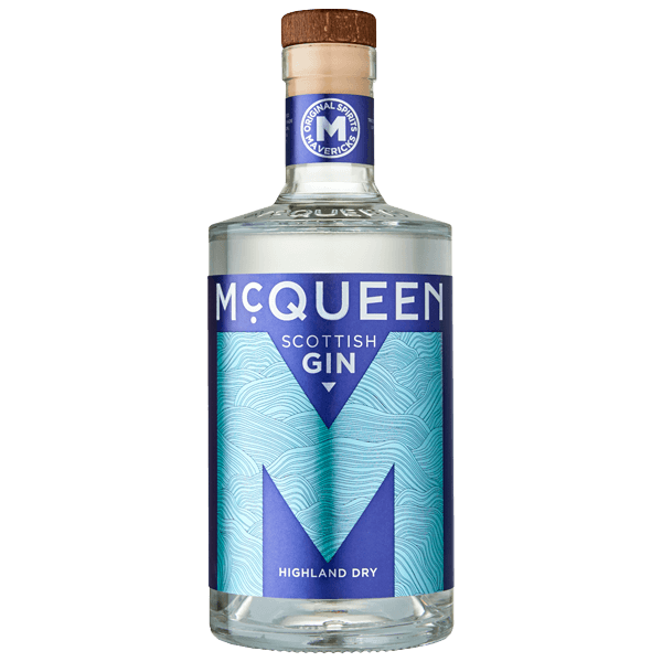 A bottle of McQueen Highland Dry Scottish Gin
