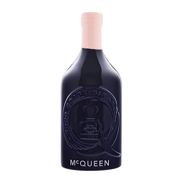 A picture of a Ceramic bottle of McQueen Gin Anniversary Edition